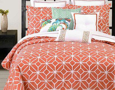 Trina Turk Trellis Coral Comforter And Duvet Cover Sets