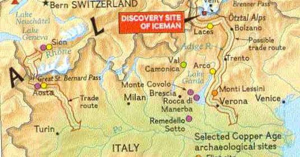 Otzi Iceman Location