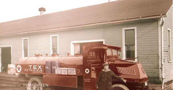 Texaco Fuel Tanker Truck 1920s 8x10 Photo Print 1295