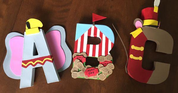 Dumbo Inspired Custom 8 Inch Paper Mache Letters Paper