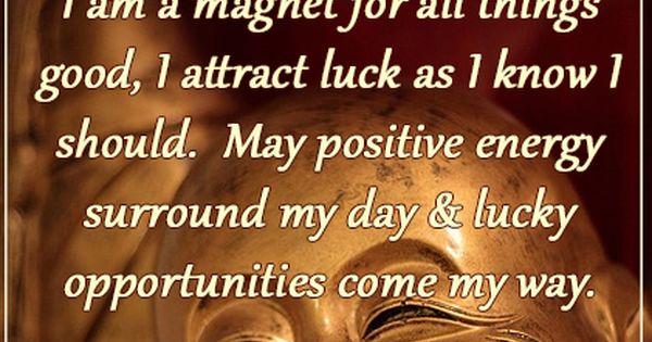 Good Luck Lucky Magic Magick Witch Spiritual Attraction Magnet Positive Energy Buddha