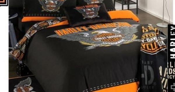 HARLEY DAVIDSON Single Bed Duvet Cover And Pillow Slip