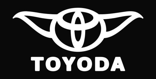 Toyota Decals And Emblems Toyoda Funny Toyota Star Wars Die Cut Vinyl Decal Sticker Tshirt