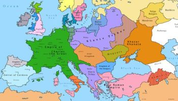 Map Of Europe 600 Ad Handbooking
