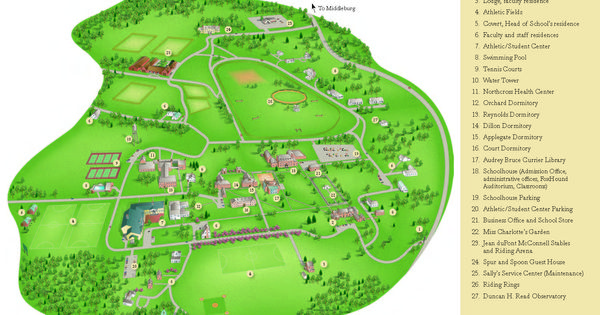 Foxcroft School Campus Map Admission Resources