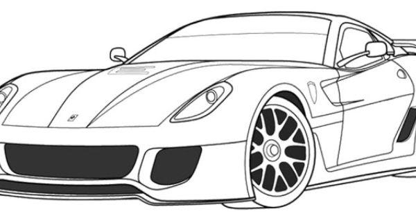 ferrari 599xx coloring page  ferrari  pinterest