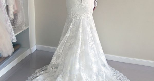 Lace Wedding Dress, Custom Made Wedding Dress, Trumpet