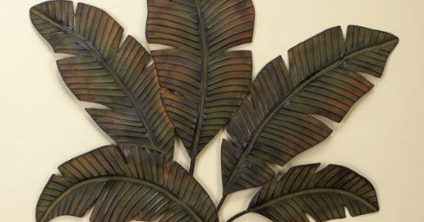 New Metal Wall Art Palm Tree Leaves Home Indoor Outdoor