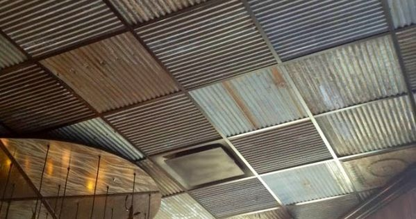 Ceilings Corrugated Red Pictures Metal