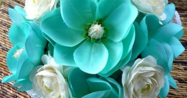 Teal Wedding Bouquet, These Flowers Are Gorgeous