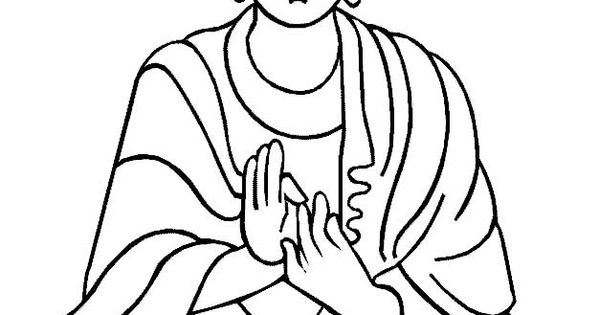 Buddha 2 Or A Very Large Line Drawing Of A White Wall Of