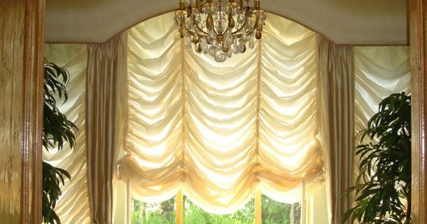 Similar To A Balloon Shade This Australian Shade Falls Elegantly Down A Window It Can Be