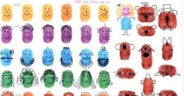 Vingerstempelen Knutselen Kinderen Pinterest