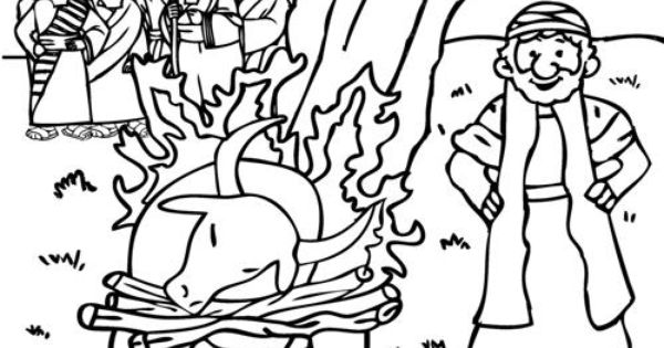 elijah and the prophets of baal coloring page from
