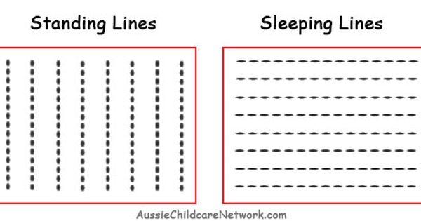 Prewriting Skills Standing Sleeping Lines