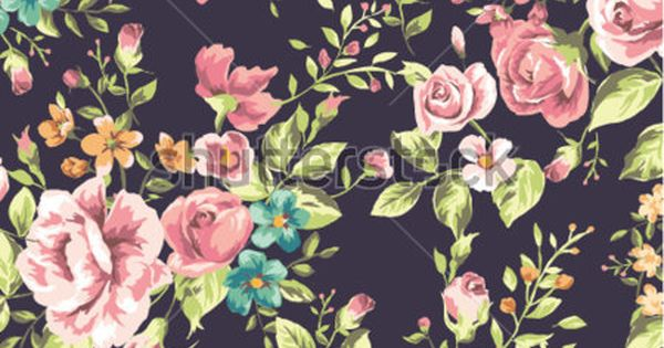 Stock Vector Seamless Classic Wallpaper Vintage Flower