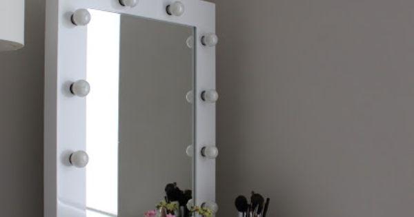 Mirror Surrounded Light Bulbs