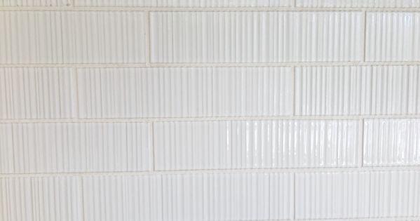 Ann Sacks Tile Savoy Ribbed In White Textileswallpaper