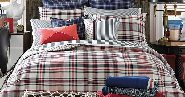 Tommy Hilfiger Bedding Red And White