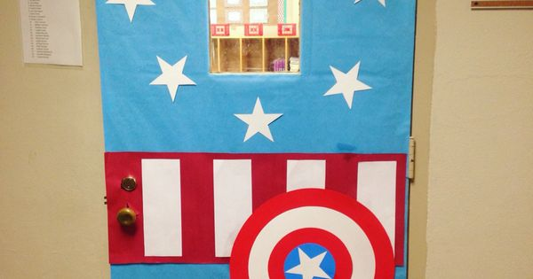 Captain America Classroom Door For The Classroom