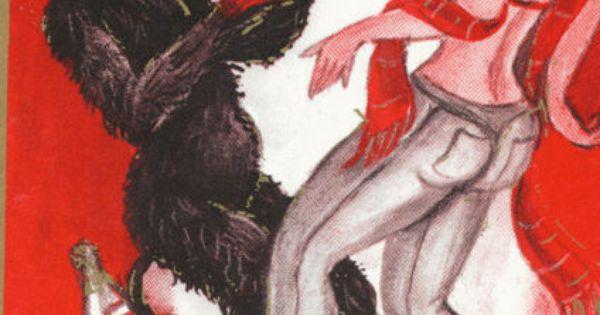 GRUSS VOM KRAMPUS PRINTED IN AUSTRIA DEVIL LASS TANZ IN