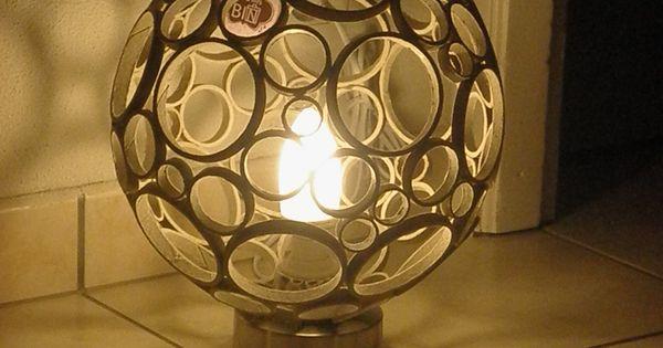 Lampe Dambiance Bulle En Rouleaux De Carton