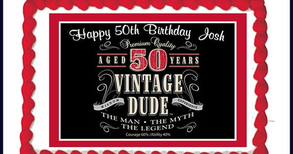 Vintage Dude 50th Milestone Men Adult By