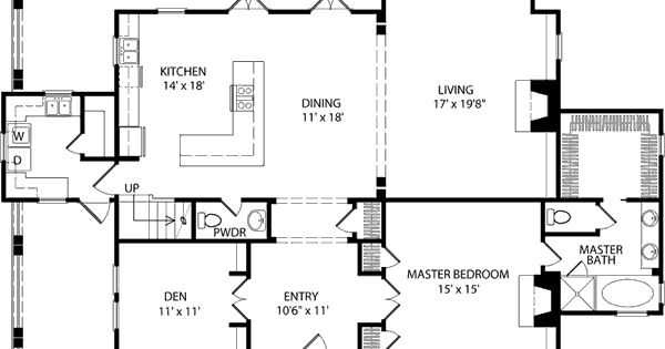 House Plans Big Kitchens And Hearth Rooms