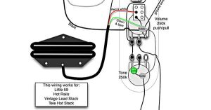 Tele Wiring Diagram  1 Humbucker, 1 Single Coil with push