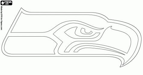 seahawks seattle seahawks and coloring pages on pinterest