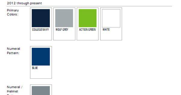 Seattle Seahawks Paint Colors 2012 NFL Week By Week