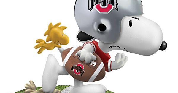 Ohio State Buckeyes Game Day Snoopy Figurine BUCKEYES