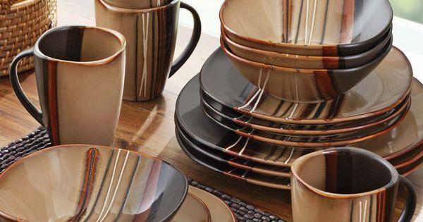 Homes And Bazaar Dinnerware Better Garden Brown
