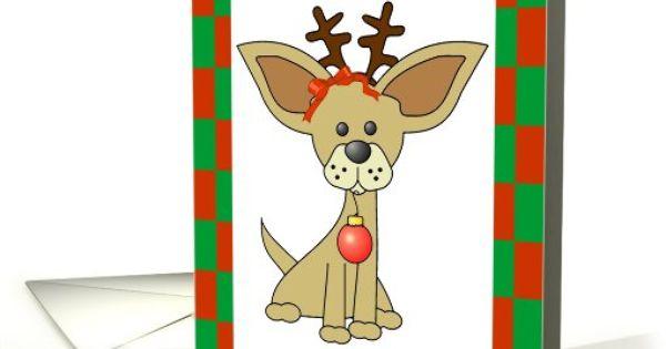 Chihuahua Christmas Humor Greeting Card Universe By