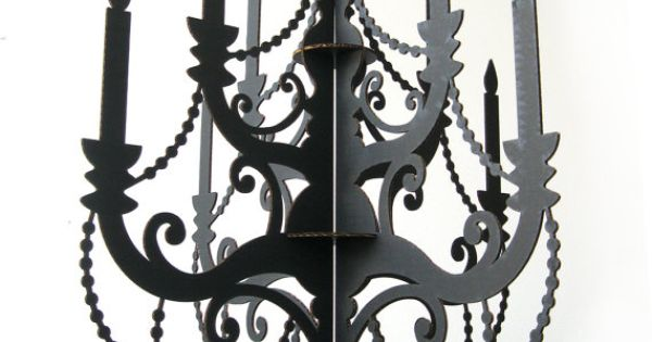 Cardboard chandelier cut outs templates aloadofball Choice Image