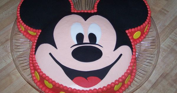 Mickey Mouse This Was Done With A 10 Quot Round For The Face
