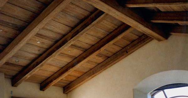 Exposed Beam, Vaulted Wooden Ceiling