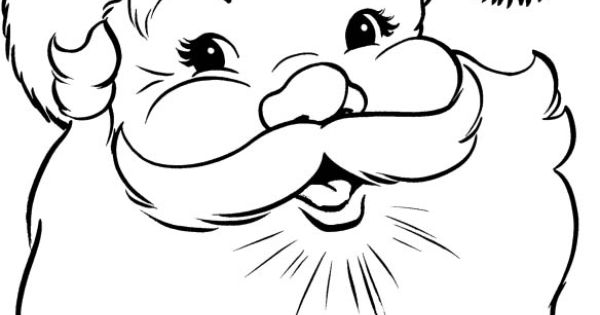 santa claus face coloring page  kids coloring pages