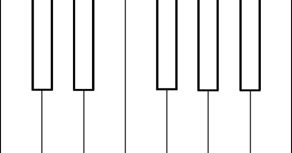 piano keys coloring sheet clip art  vector clip art