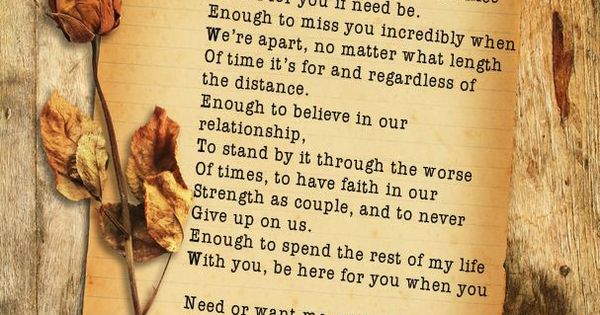 Poems Miss You My I Love