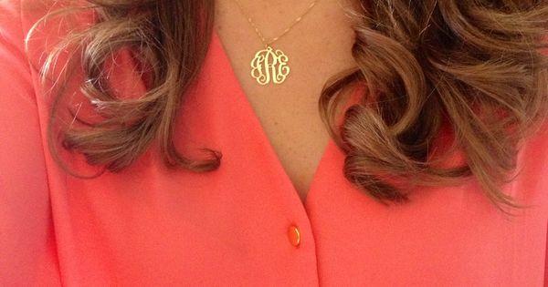 Monogrammed Necklace I Like This Mini Size Httpwww