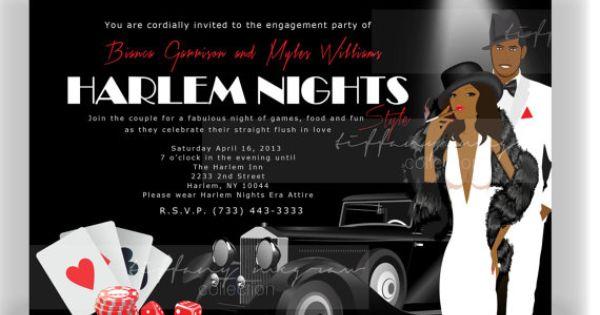 Harlem Nights Themed Engagement Party Harlem Nights