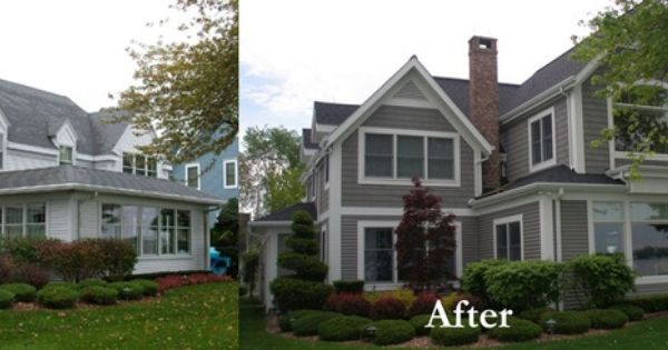 Ranch House Additions Before And After House Renovation