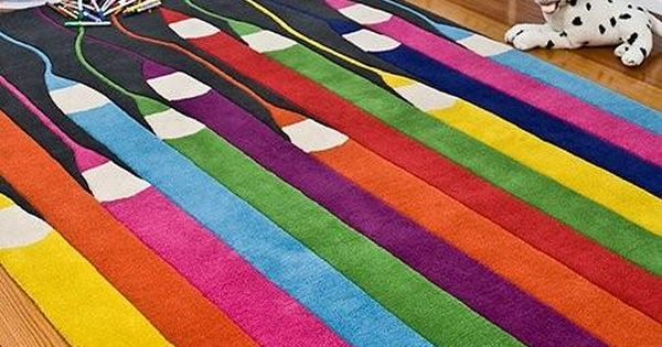 Cutie Rainbow Colored Pencil Rug Kids Room Pinterest