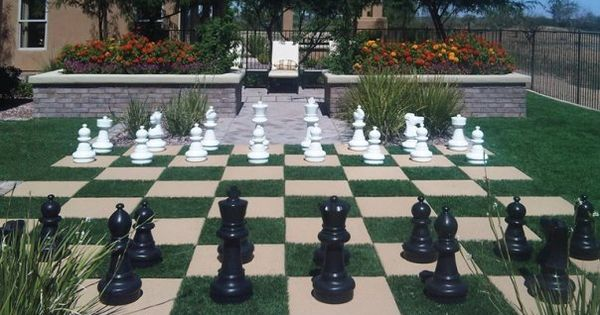 Backyard Chess Set With Artificial Grass By ForeverLawn