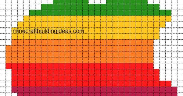 Minecraft Apple Pixel Art Templates