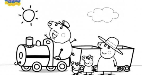Disegno Treno Di Peppa Pig Da Colorare Disegni Da