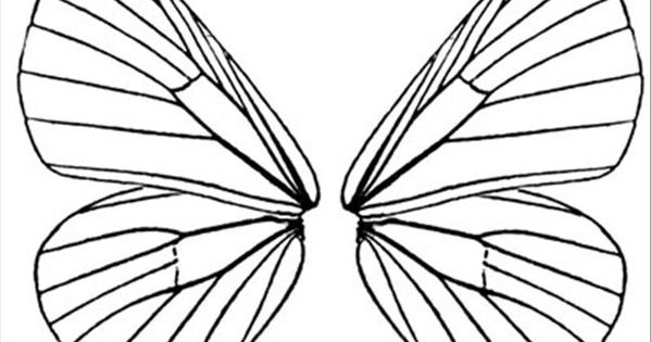 fairy wings to color  free printable coloring page