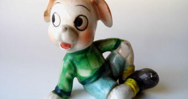Porcelain Pigs Made China