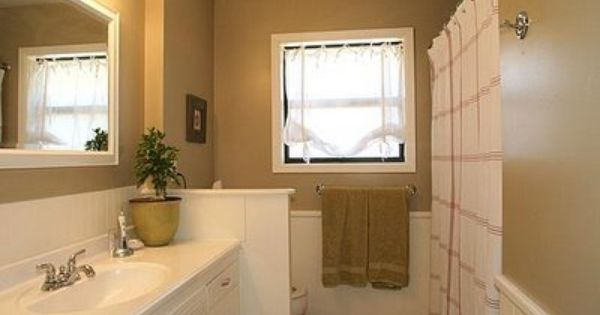 Love This Bathroom Redo! Painted Wood (including The